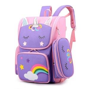 Children School Bags Cartoon 3D Unicorn Girls Sweet Kids School Backpacks Boys Lightweight Waterproof Primary Schoolbags 1