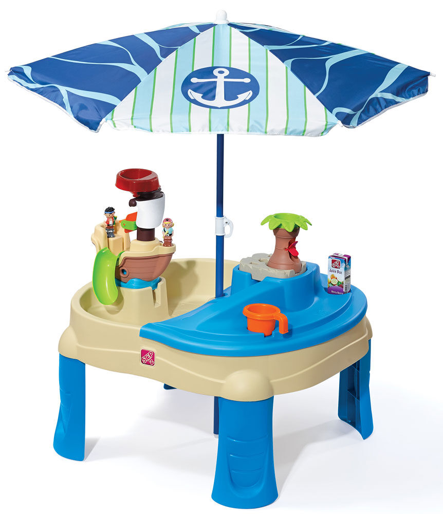 Step2 Sail Away Adventure Sand Water Table With Umbrella R Exclusive Toys R Us Canada