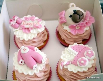 babeczki baby shower / roczek
