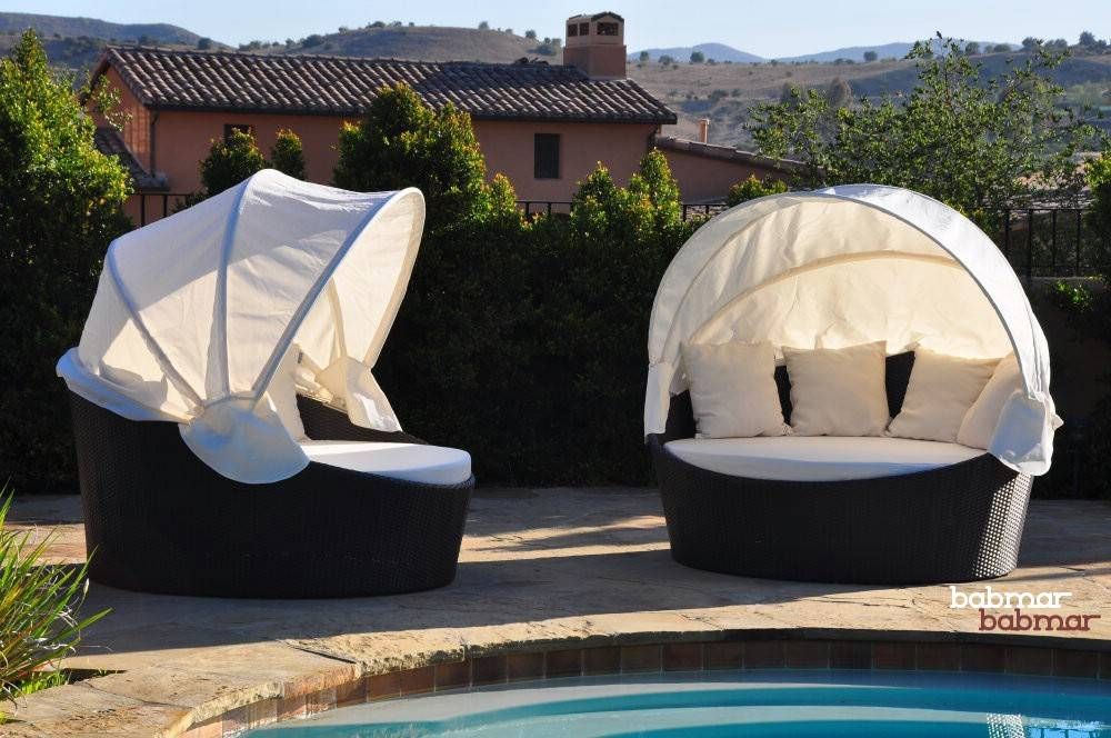 Outdoor Daybed With Canopy Commercial Outdoor