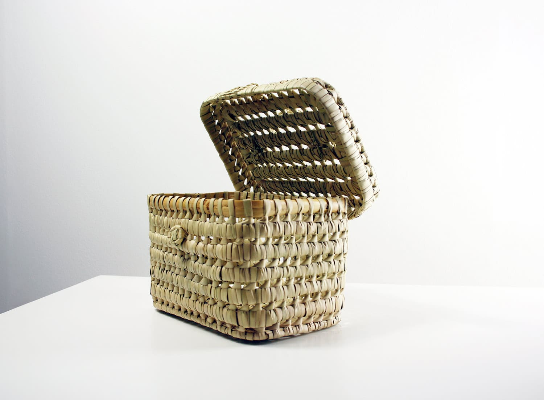 Picknickkorb, mini, aus Palmenblatt