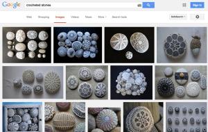 Crocheted stones