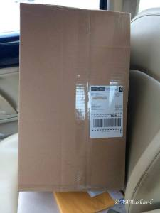 I picked up the parcel from the post office.