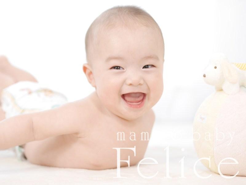 5か月男の子ベビーフォト