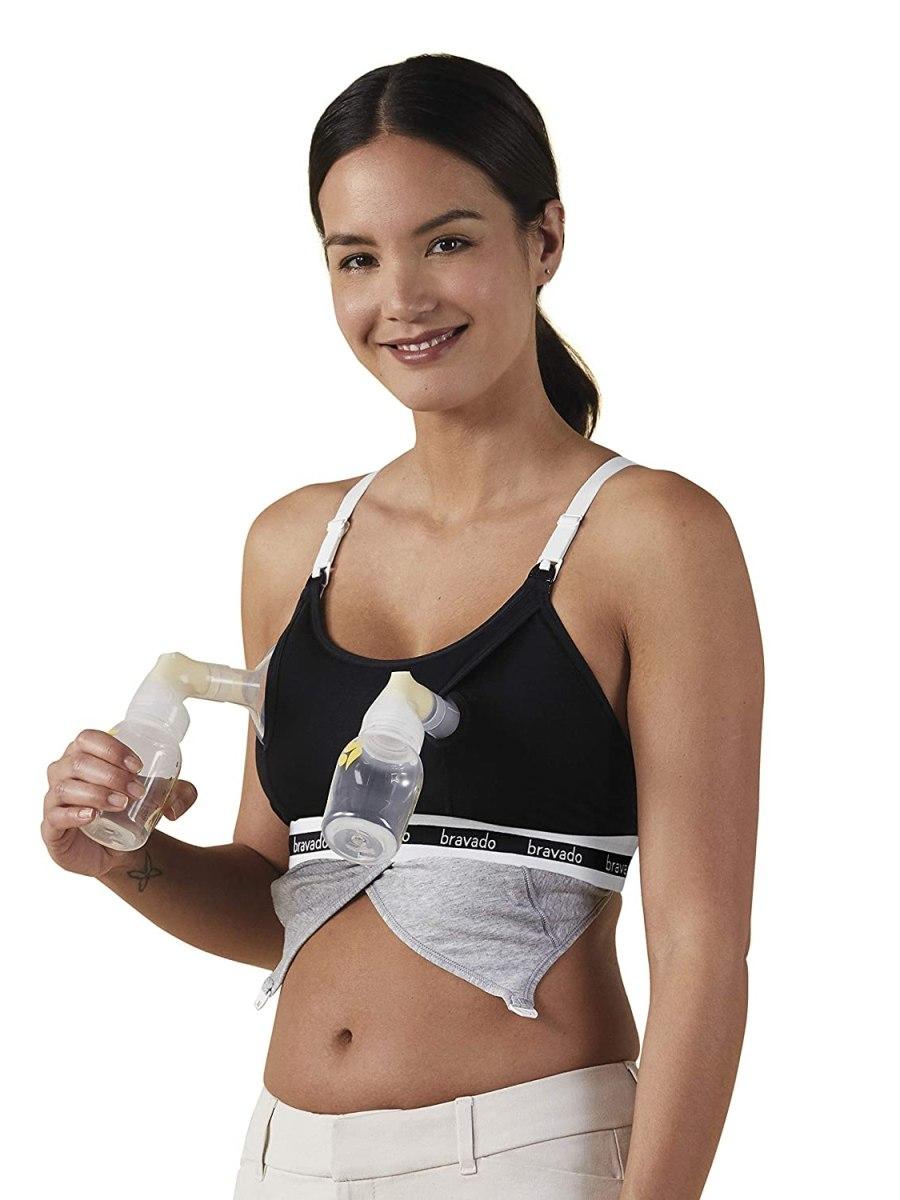 BRAVADO! DESIGNS Women Hands-Free Clip and Pump Strapless Nursing Bra Accessory