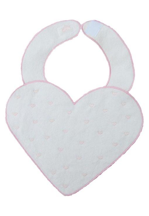 9994 babero corazon rosa