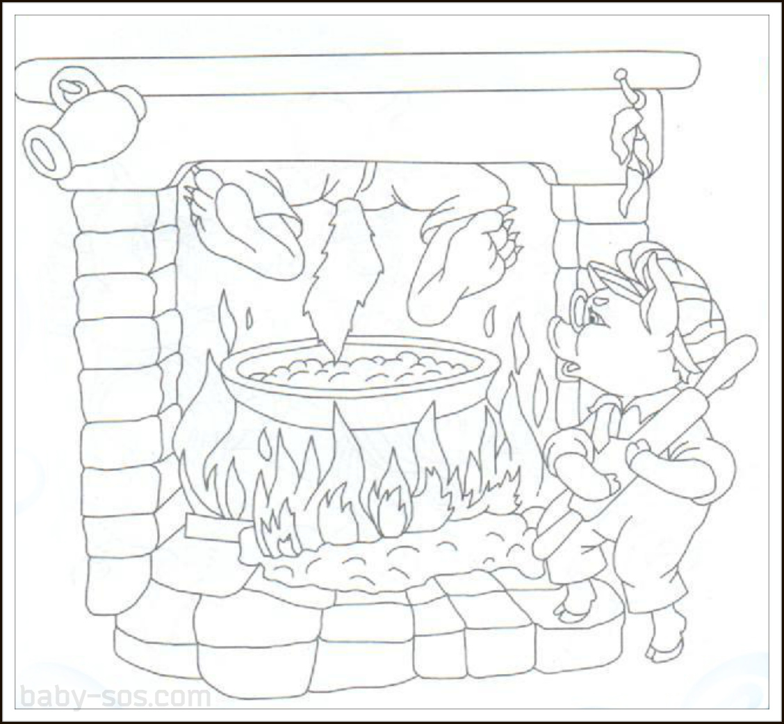 Three Little Pigs Coloring