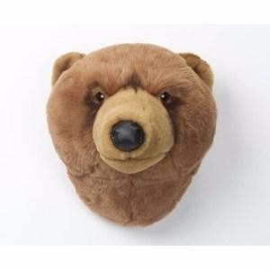 Grizzly berenhoofd voor aan de muur