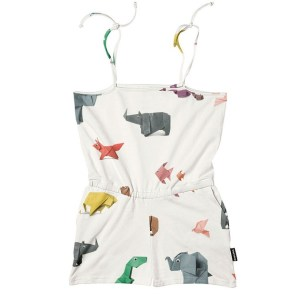 Snurk Kids Playsuit Paper Zoo-104 (4 jaar)