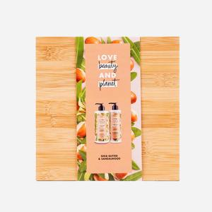 Love Beauty & Planet Shea Butter & Sandalwood Oil luxe bamboo geschenkset