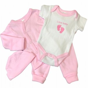 Soft Touch babykleding set Lieve baby roze 4-delig mt 50/56