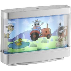 LeuchtenDirekt LED-decolamp Boerderij LED LED vast ingebouwd 3 W Zilver