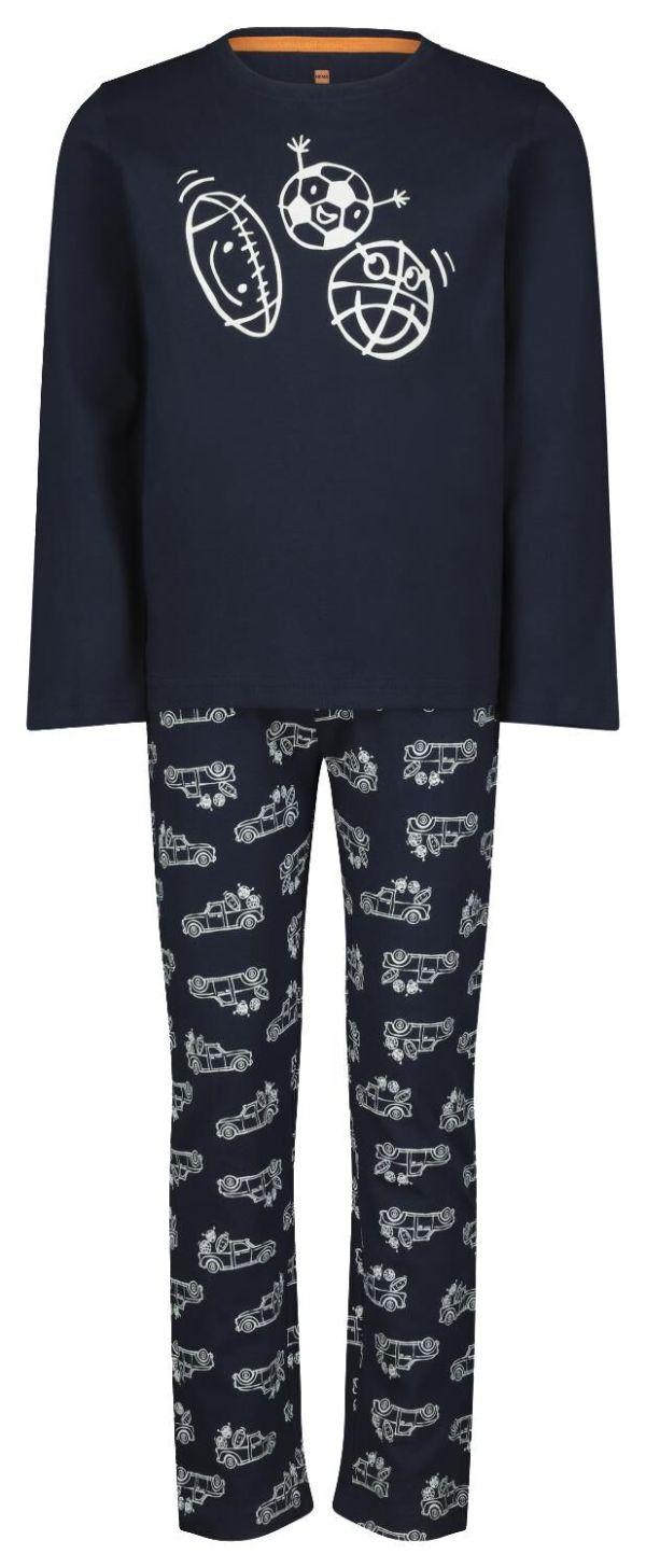 HEMA Kinderpyjama Sport Donkerblauw (donkerblauw)