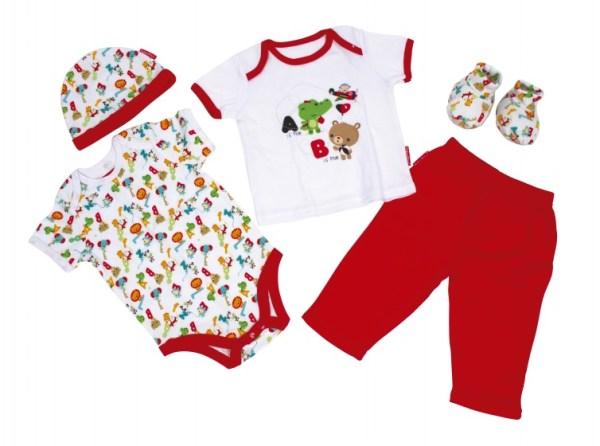 Fisher-Price babykleding in Giftbox 5-delig