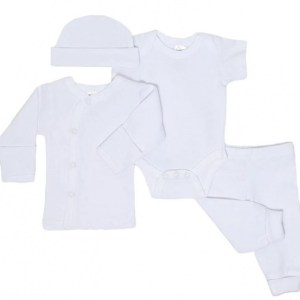 Soft Touch babykleding set katoen wit 4-delig mt 50/56