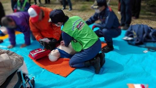 防災訓練 地域 AED