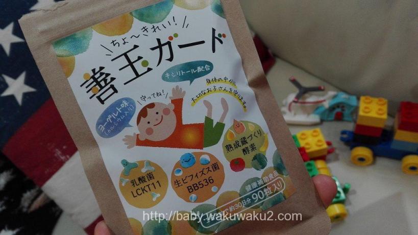 善玉ガード 子供の便秘対策 ヨーグルト味