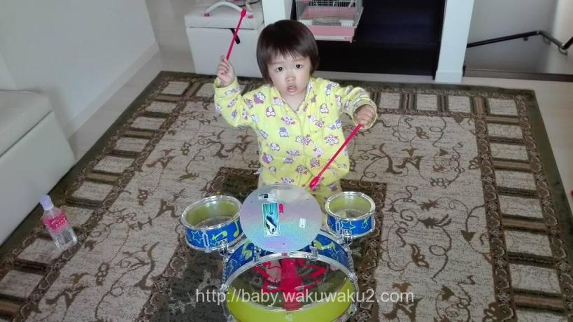 こゆたん 三輪車 ドラム D-bike TRY 2歳10ヶ月