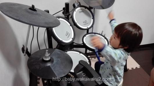 こゆたん 3歳 ドラム ドラマー
