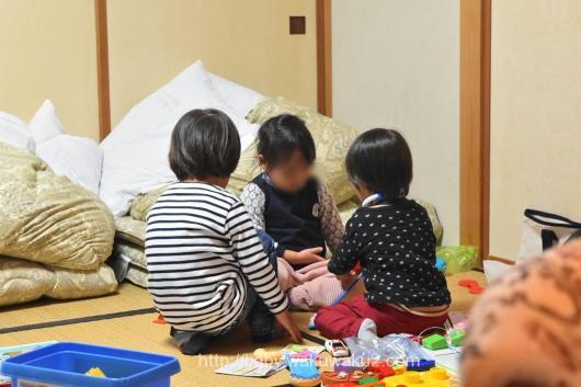 4家族 バーベキュー お泊り コテージ 3歳児