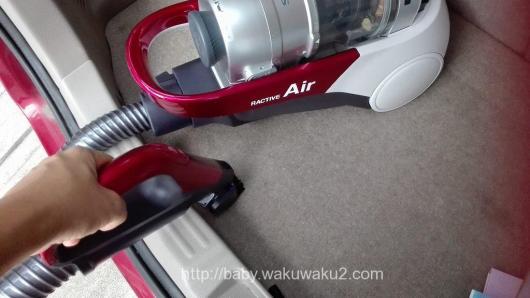 『世界最軽量』コードレスキャニスター掃除機 EC-AS500 SHARP 車