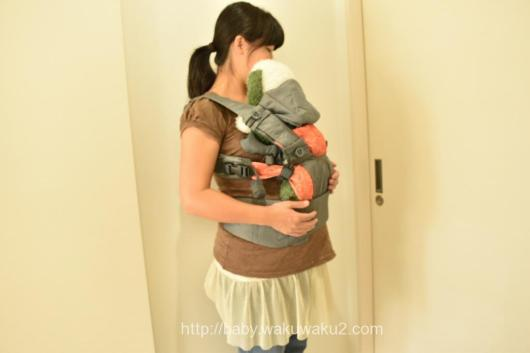 ドクターレーベル ベビーキャリア レビュー ブログ 使い方 生後1ヶ月 サイズ調整 装着
