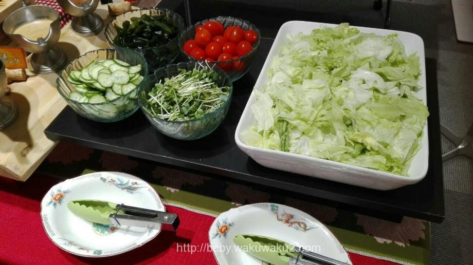 永井マザーズホスピタル 食事 中華バイキング サラダ