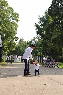 舎人公園 バーベキュー 父子