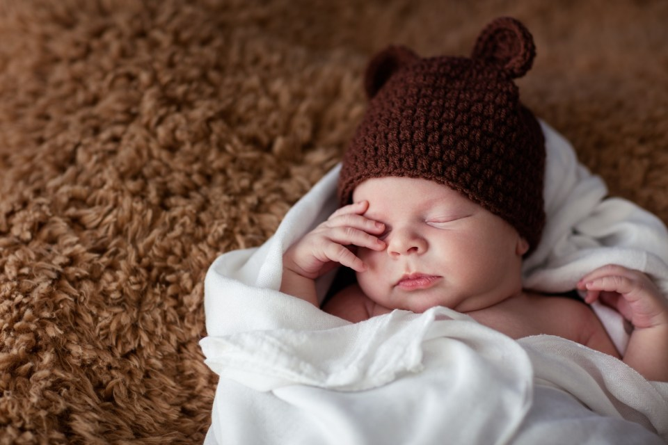little newborn boy sleeping