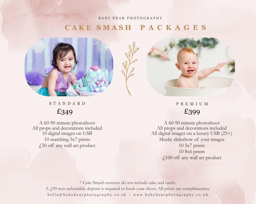 Cake Smash price list