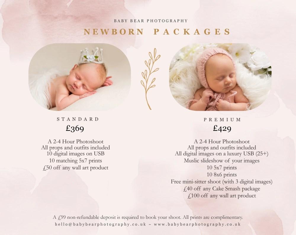 Newborn Shoot Price List