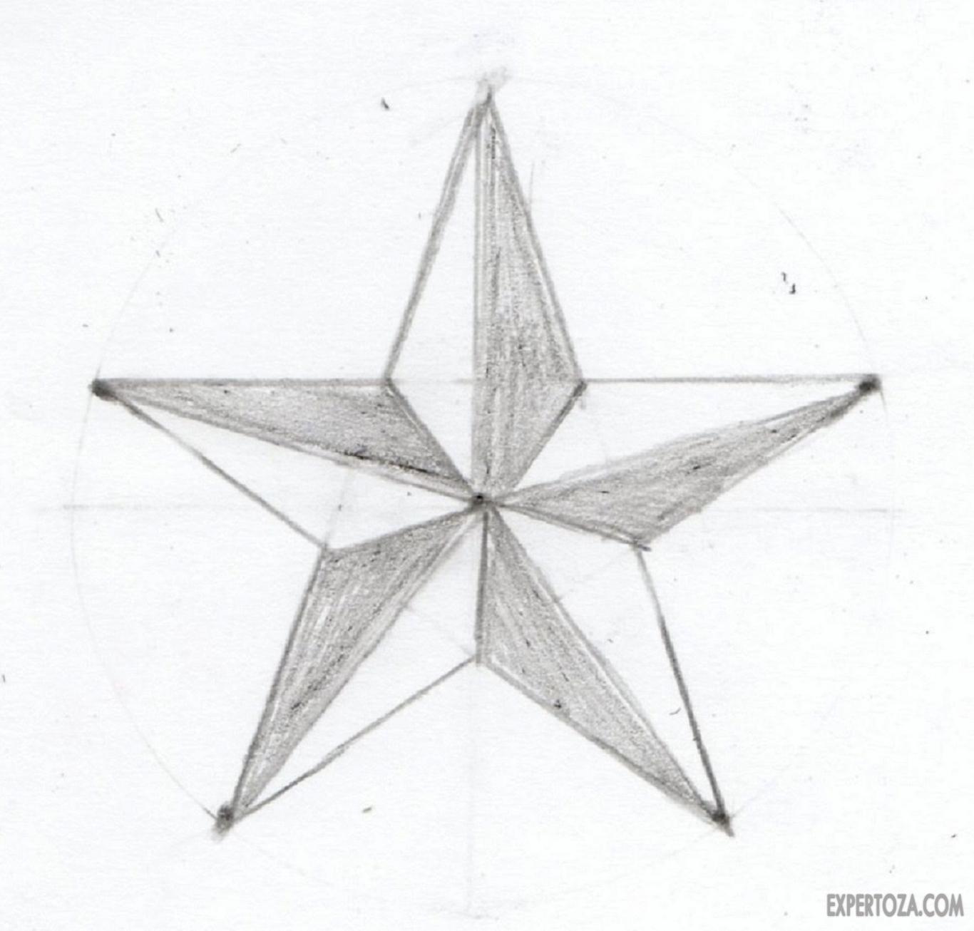 как нарисовать звезду поэтапно фото что целью футболе