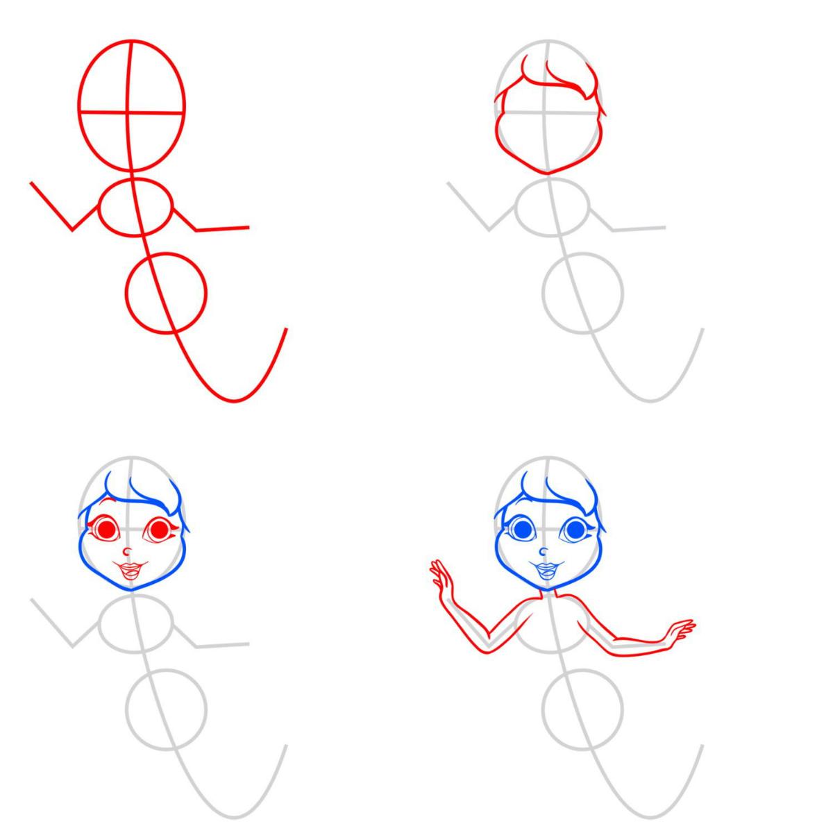 фото картинки учимся рисовать русалочку работ