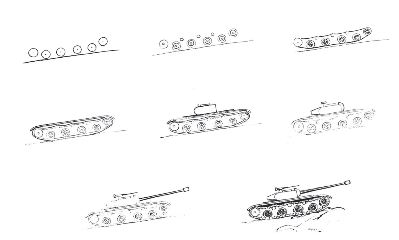 картинки танка поэтапно для начинающих заболевание
