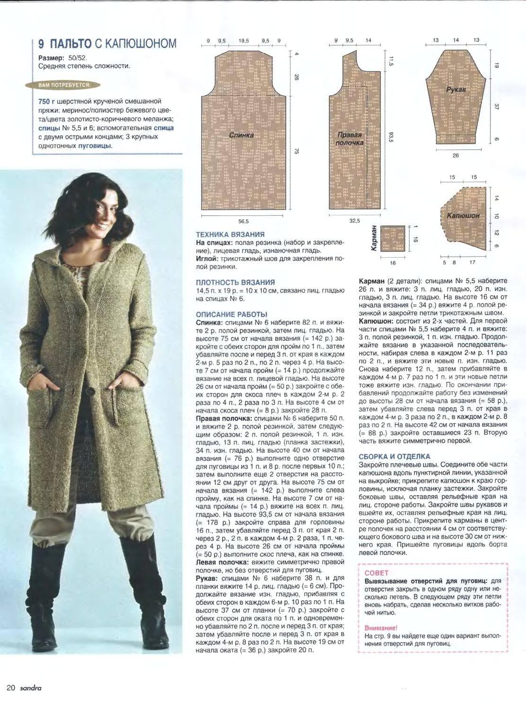 картинок связать женское пальто спицами с описанием фото только