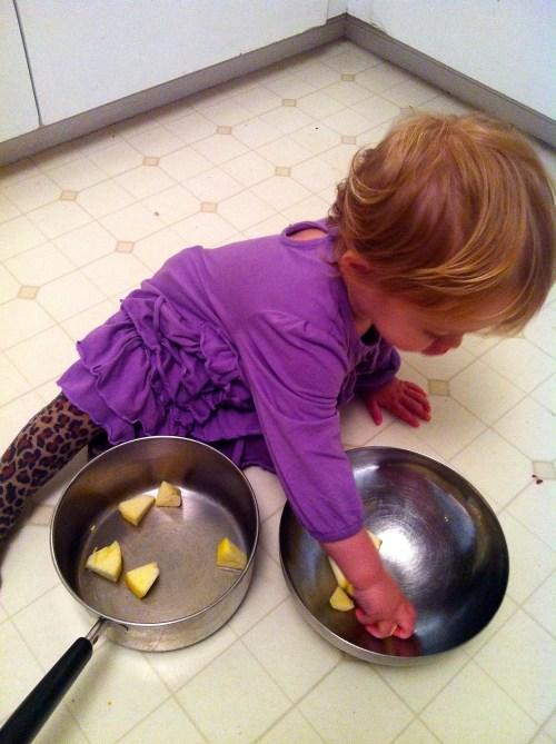 Baby Bird loves to help cook