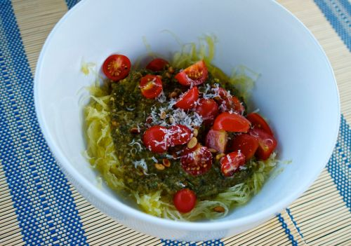 Easy, simple recipes: spaghetti squash pesto