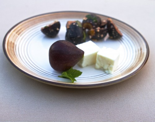 fig + feta salad with mint and balsamic