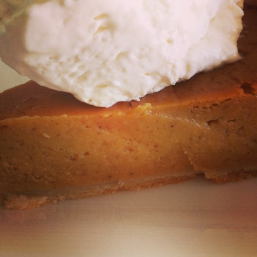 Real Pumpkin Pie with Maple Whipped Cream