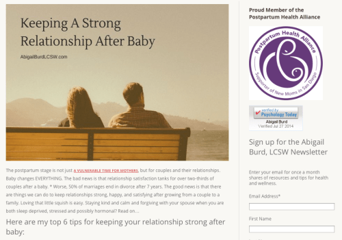 strong relationship after baby