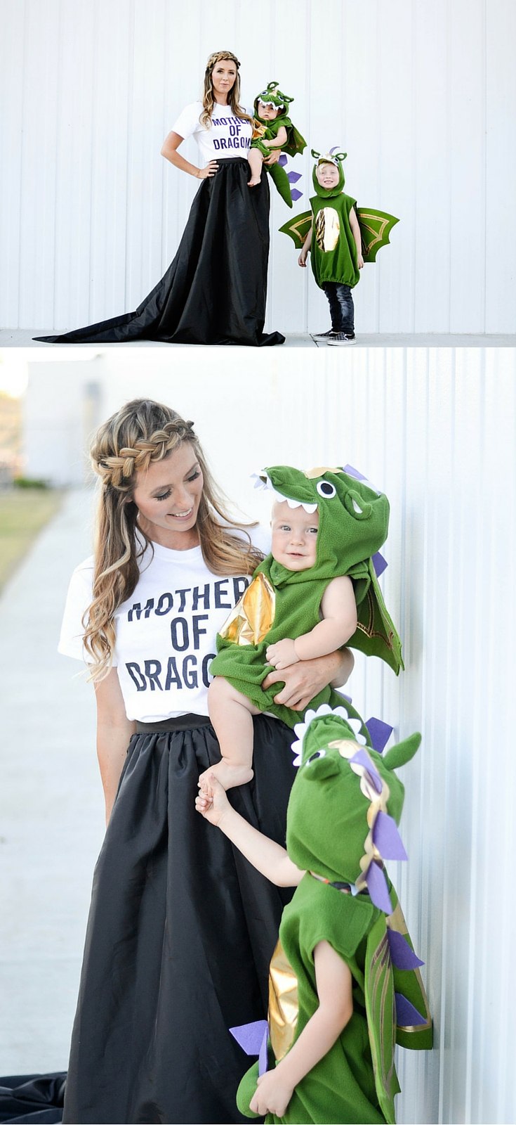 Creative Mom and Kid Halloween Costumes - Mother of Dragons and Baby Dragons  sc 1 st  Baby Birdu0027s Farm and Cocina : baby and mommy costumes  - Germanpascual.Com