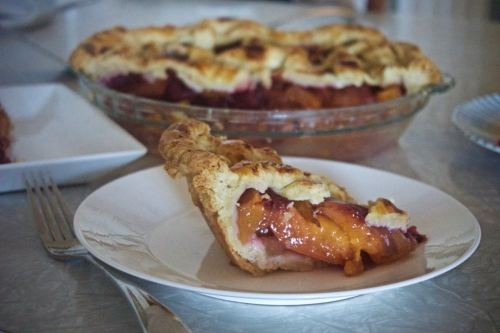 Nectarine and Blackberry Pie with an All Butter Crust