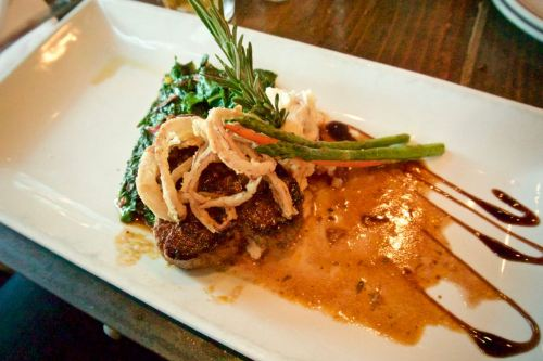 Buffalo Filet at Farmer's Bottega Restaurant in Mission Hills, San Diego
