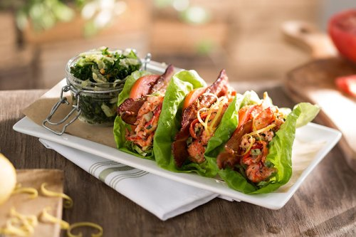 Seasons 52 Lobster BLT Lettuce Wraps