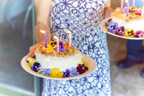 Edible Flower Decorated Smash Cakes