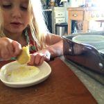 grating fresh ginger