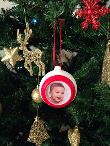 My Brightest Little Bauble … Personalised Photo Christmas Bauble