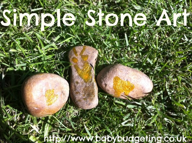 simple atone art, stone butterfly, butterfly art, Playing with stones