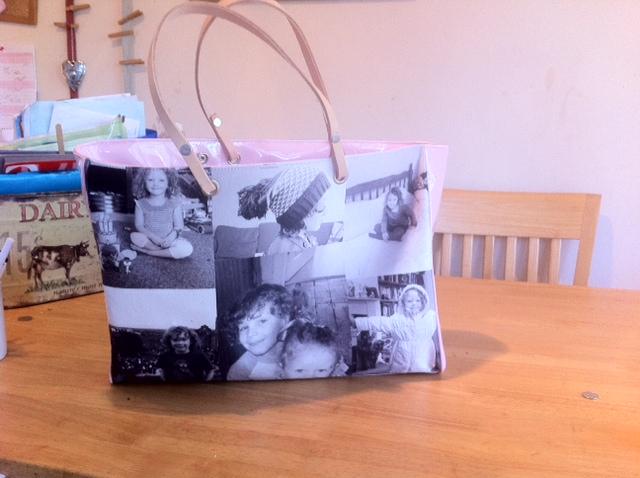 photo bag, personalised bag,