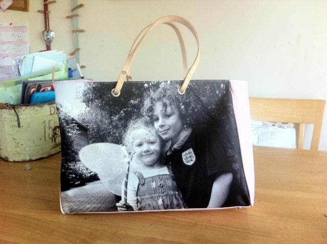 photo bag, personalised bag